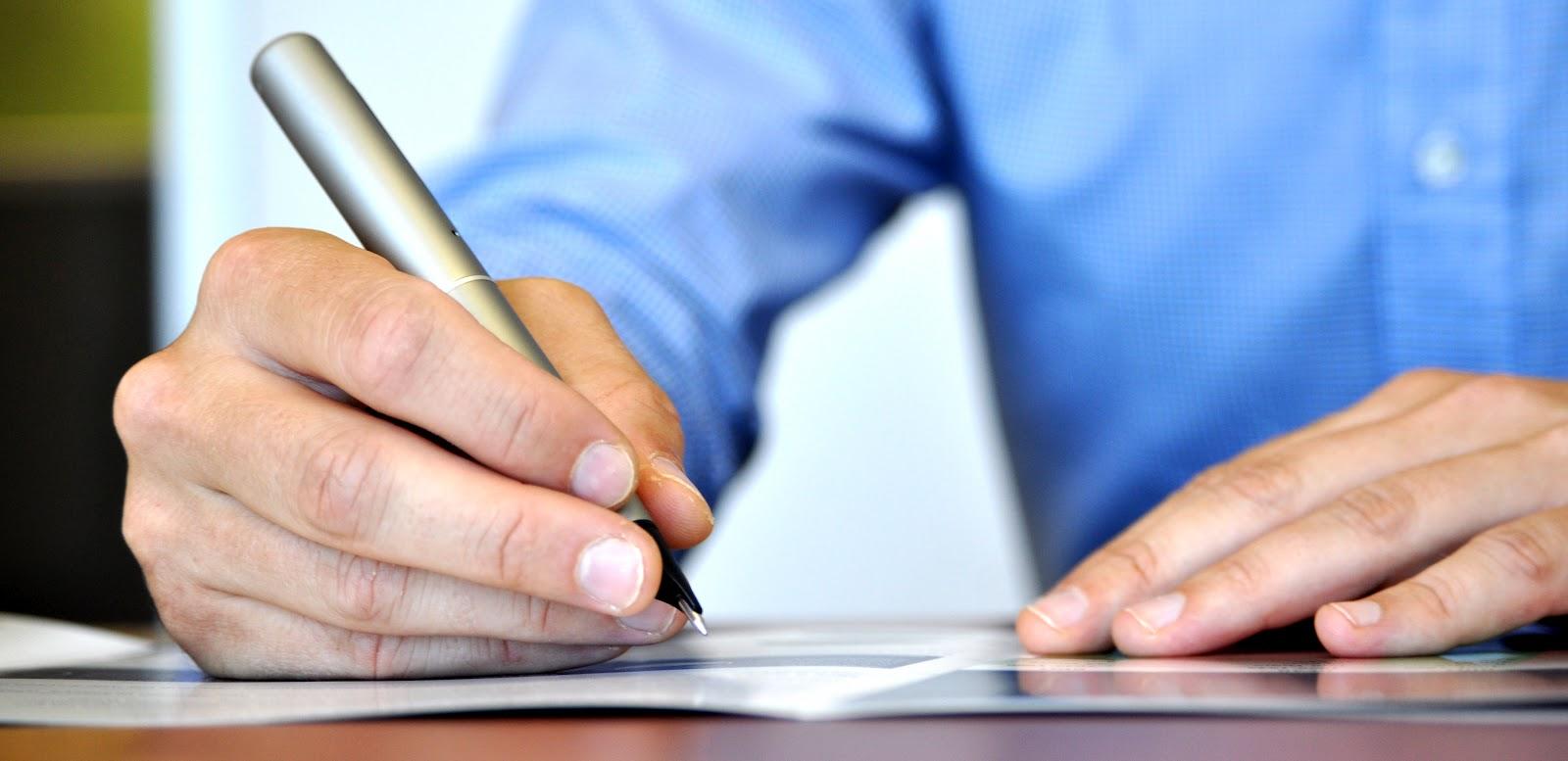 פאנטון עסקי - כתיבת טקסט
